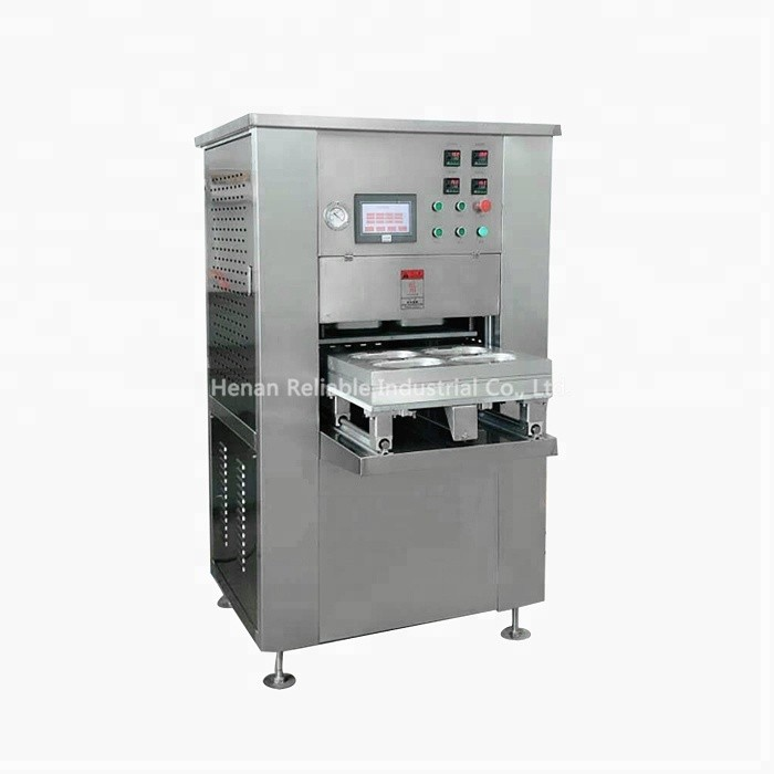 Automatic modified atmosphere map tray sealer vacuum packing machine for meat vegetables with factor